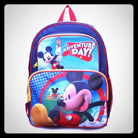 """NWT DISNEY MICKEY MOUSE BACKPACK 16"""" ADVENTURE DAY 652d4f588feb8"""